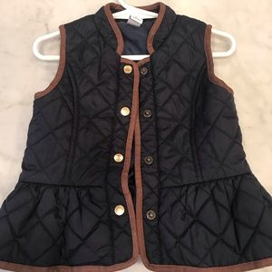 Janie and Jack 2T Quilted Navy Vest